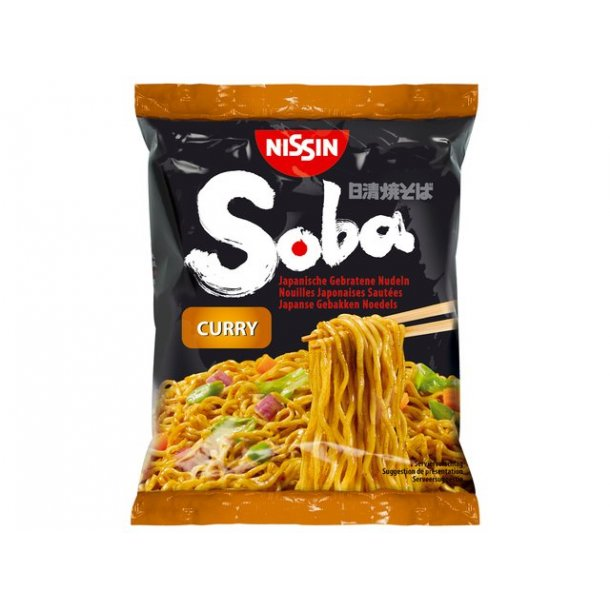Soba Bag Noodles, Curry (Nissin) 9 x110gr.