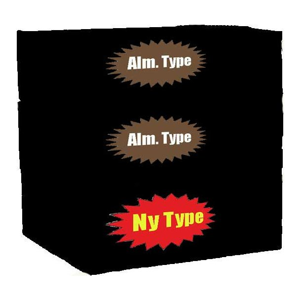 3 ks. Yum Yum (Bland-selv 2 alm. + 1 ny type)