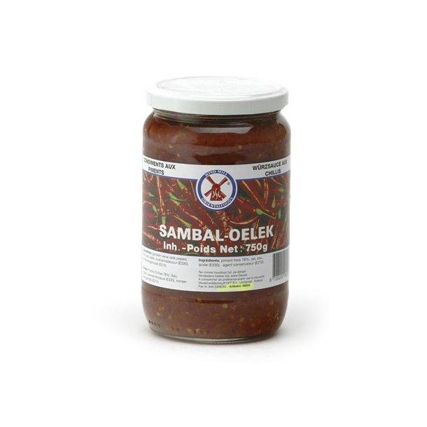Chili Pasta 78% (Sambal Oelek) - 750 gr.