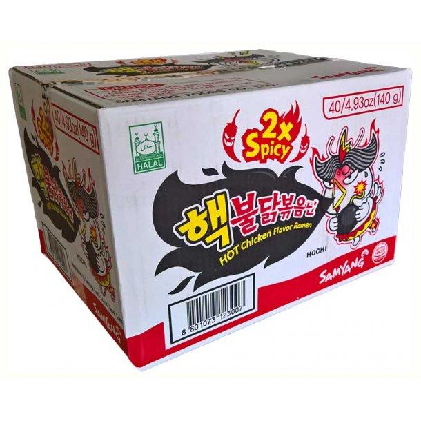 2x Spicy & Hot Chicken (SamYang) - 40x140gr. Her køber du en hél kasse.