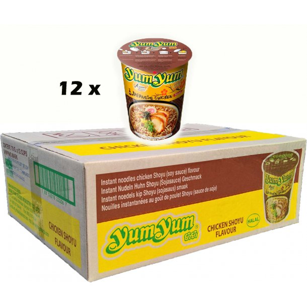 Yum Yum - Chicken Shoyu CupBox - 12 x 70gr.